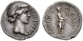 The Roman Empire   The Civil Wars, 68 – 69  Denarius, Spain 68-69, AR 3.60 g. BON EVENT Female bust r., with fillet round forehead. Rev. ROM – RENASC ...