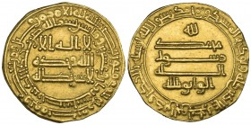 ABBASID, AL-WATHIQ (227-232h). Dinar, San'a 228h. Weight: 3.49g. References: Bernardi 152EL RRR; Bikhazi 23. Lightly and evenly clipped, good very fin...