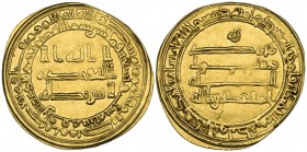 ABBASID, AL-MUQTADIR (295-320h). Dinar, al-Rafiqa 296h. Weight: 4.62g. References: Bernardi 237Hn; Artuk 450. Well struck on a broad flan, good very f...