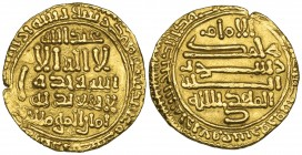 FATIMID, AL-MAHDI (297-322h). Posthumous dinar, without mint-name, 324h. Weight: 4.19g. Reference: Nicol 136, citing a single specimen of this date. S...