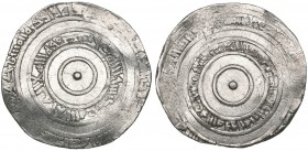 FATIMID, AL-'AZIZ (365-386h). Dirham, Filastin 366h. Weight: 3.67g. Reference: cf Nicol 687 [dated 368h]. On a bent flan and with some marginal weakne...