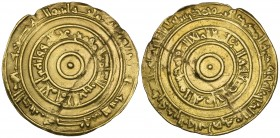FATIMID, AL-'AZIZ (365-386h). Dinar, Makka 366h. Weight: 2.80g. Reference: Nicol 745 = BMC IV, 51, same dies. Cracked and repaired, otherwise almost v...