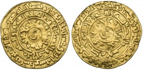 FATIMID, AL-ZAHIR (411-427h). Dinar, Filastin 424h. In fields: letter zayn in centres. Weight: 3.93g. References: Nicol 1505 var.; cf Morton & Eden au...