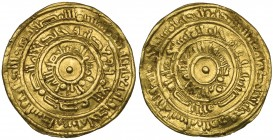 FATIMID, AL-MUSTANSIR (427-487h). Dinar, Filastin 441h. Weight: 3.75g. Reference: Nicol 2069, citing a single specimen of this mint and date. Slightly...