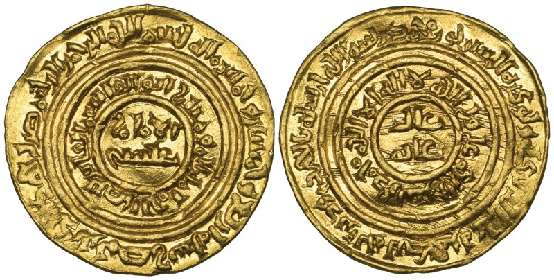 FATIMID, AL-FA'IZ (549-555h). Dinar, Misr 554h. Weight: 4.37g. Reference: Nicol ...
