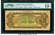 Australia Commonwealth Bank of Australia 1/2 Sovereign ND (1928) Pick 15c R7 PMG Choice Fine 15 NET. Rust.  HID09801242017  © 2020 Heritage Auctions |...