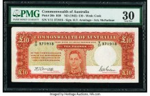 Australia Commonwealth of Australia 10 Pounds ND (1942) Pick 28b R59 PMG Very Fine 30.   HID09801242017  © 2020 Heritage Auctions | All Rights Reserve...