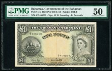 Bahamas Bahamas Government 1 Pound 1936 (ND 1954) Pick 15b PMG About Uncirculated 50.   HID09801242017  © 2020 Heritage Auctions | All Rights Reserved...