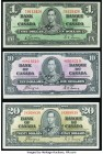 Canada Bank of Canada $1; $10; $20 1937 BC-21c; BC-24c; BC-25c Very Fine-Extremely Fine or Better.   HID09801242017  © 2020 Heritage Auctions | All Ri...
