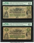 Canada Moncton, NB- Westmorland Bank of New Brunswick $1 1.8.1861 Ch.# 800-12-02a Two Examples PMG Fine 12. Tear; rust.  HID09801242017  © 2020 Herita...