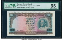 Ceylon Central Bank of Ceylon 100 Rupees 5.6.1963 Pick 66 PMG About Uncirculated 55. Ink.  HID09801242017  © 2020 Heritage Auctions | All Rights Reser...