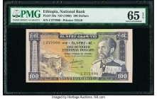 Ethiopia National Bank of Ethiopia 100 Dollars ND (1966) Pick 29a PMG Gem Uncirculated 65 EPQ.   HID09801242017  © 2020 Heritage Auctions | All Rights...