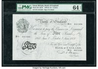 Great Britain Bank of England 5 Pounds 7.6.1950 Pick 344 PMG Choice Uncirculated 64 EPQ. As made small holes.  HID09801242017  © 2020 Heritage Auction...
