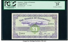 Guernsey States of Guernsey 1 Pound 1.3.1965 Pick 43b PCGS Very Fine 25.   HID09801242017  © 2020 Heritage Auctions | All Rights Reserved