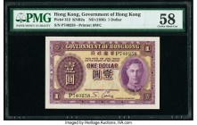 Hong Kong Government of Hong Kong 1 Dollar ND (1936) Pick 312 KNB2a PMG Choice About Unc 58.   HID09801242017  © 2020 Heritage Auctions | All Rights R...