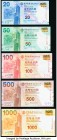Hong Kong Bank of China (HK) Ltd. 20; 50; 100; 500; 1000 Dollars 2010 Pick 341a; 342a; 343a; 344a; 345a Full Denomination Set Crisp Uncirculated. Firs...