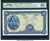Ireland Republic of Ireland 10 Pounds 26.9.1974 Pick 66c PMG Gem Uncirculated 65 EPQ.   HID09801242017  © 2020 Heritage Auctions | All Rights Reserved...