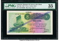 Lebanon Banque de Syrie et du Liban 1 Livre 1.9.1939 Pick 26a PMG Choice Very Fine 35.   HID09801242017  © 2020 Heritage Auctions | All Rights Reserve...
