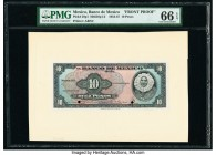 Mexico Banco de Mexico 10 Pesos 8.9.1954 Pick 58p1 Front Proof PMG Gem Uncirculated 66 EPQ. Two POCs.  HID09801242017  © 2020 Heritage Auctions | All ...