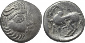 "EASTERN EUROPE. Imitations of Philip II of Macedon (2nd-1st centuries BC). Drachm. Mint in the region of Velem, Hungary. ""Kapostaler Kleingeld"" type."