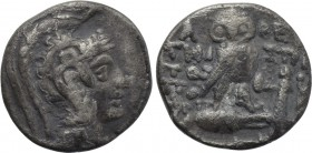 ATTICA. Athens. Drachm (101/0 BC). New Style Coinage. Timostratos, Poses and Ari-, magistrates.