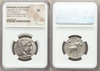 MACEDONIAN KINGDOM. Alexander III the Great (336-323 BC). AR tetradrachm (26mm, 12h). NGC XF. Early posthumous issue of Sidon, dated Civic Year 12 (32...