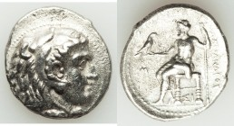 MACEDONIAN KINGDOM. Alexander III the Great (336-323 BC). AR tetradrachm (29mm, 16.46 gm, 12h). About XF. Early posthumous issue of Sidon, dated Civic...
