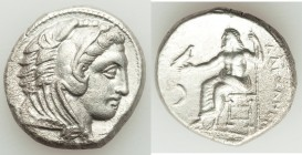 MACEDONIAN KINGDOM. Alexander III the Great (336-323 BC). AR tetradrachm (26mm, 16.52 gm, 1h). XF, porosity. Late lifetime-early posthumous issue of '...