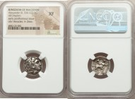 MACEDONIAN KINGDOM. Alexander III the Great (336-323 BC). AR drachm (17mm, 1h). NGC XF. Late lifetime-early posthumous issue of 'Colophon', ca. 323-31...