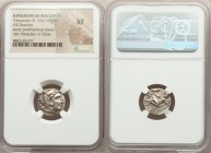 MACEDONIAN KINGDOM. Alexander III the Great (336-323 BC). AR drachm (16mm, 2h). NGC XF. Posthumous issue of Lampsacus, ca. 310-301 BC. Head of Heracle...