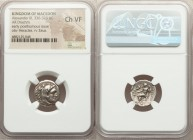MACEDONIAN KINGDOM. Alexander III the Great (336-323 BC). AR drachm (16mm, 12h). NGC Choice VF. Late lifetime-early posthumous issue of Sardes, ca. 32...