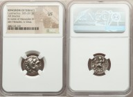 MACEDONIAN KINGDOM. Alexander III the Great (336-323 BC). AR drachm (16mm, 12h). NGC VF. Posthumous issue of 'Colophon', under Lysimachus of Thrace, c...