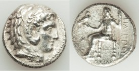 MACEDONIAN KINGDOM. Philip III Arrhidaeus (323-317 BC). AR tetradrachm (25mm, 16.67 gm, 9h). About XF, porosity. Babylon. Head of Heracles right, wear...
