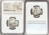 ATTICA. Athens. Ca. 440-404 BC. AR tetradrachm (26mm, 17.17 gm, 5h). NGC AU 5/5 - 5/5, Full Crest. Mid-mass coinage issue. Head of Athena right, weari...