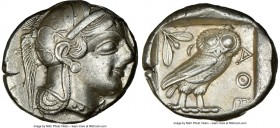 ATTICA. Athens. Ca. 440-404 BC. AR tetradrachm (26mm, 17.16 gm, 7h). NGC XF 4/5 - 4/5. Mid-mass coinage issue. Head of Athena right, wearing crested A...
