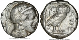 ATTICA. Athens. Ca. 440-404 BC. AR tetradrachm (23mm, 17.20 gm, 4h). NGC Choice VF 4/5 - 3/5. Mid-mass coinage issue. Head of Athena right, wearing cr...