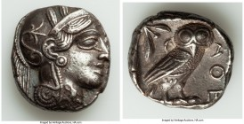 ATTICA. Athens. Ca. 440-404 BC. AR tetradrachm (24mm, 17.06 gm, 9h). AU. Mid-mass coinage issue. Head of Athena right, wearing crested Attic helmet or...