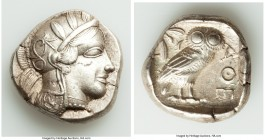 ATTICA. Athens. Ca. 440-404 BC. AR tetradrachm (24mm, 17.14 gm, 11h). Choice XF. Mid-mass coinage issue. Head of Athena right, wearing crested Attic h...