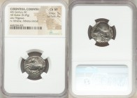 CORINTHIA. Corinth. Ca. 375-300 BC. AR stater (20mm, 8.49 gm, 6h). NGC Choice VF 3/5 - 4/5. Pegasus flying left, Ϙ below / Head of Athena left, wearin...