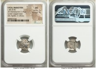 LYCIAN LEAGUE. Masicytes. Ca. 48-20 BC. AR hemidrachm (15mm, 1.95 gm, 12h). NGC MS 5/5 - 4/5. Series 1. Laureate head of Apollo right; Λ-Y below / M-A...