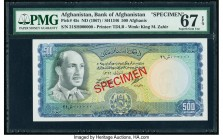 Afghanistan Bank of Afghanistan 500 Afghanis ND (1967) / SH1346 Pick 45s Specimen PMG Superb Gem Unc 67 EPQ.   HID09801242017  © 2020 Heritage Auction...