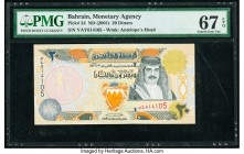 Bahrain Monetary Agency 20 Dinars ND (2001) Pick 24 PMG Superb Gem Unc 67 EPQ.   HID09801242017  © 2020 Heritage Auctions | All Rights Reserved