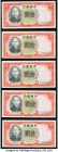 China Central Bank of China 10 Dollars 1928 Pick 197h (3); 5 Dollars 1930 Pick 200f (2); 1 Yuan 1936 Pick 212a (5) Crisp Uncirculated or Better.   HID...