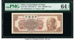 China Central Bank of China 1,000,000 Gold Yuan 1949 Pick 426 PMG Choice Uncirculated 64 EPQ.   HID09801242017  © 2020 Heritage Auctions | All Rights ...