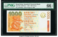 Hong Kong Standard Chartered Bank 1000 Dollars 1.7.2003 Pick 295 KNB73 PMG Gem Uncirculated 66 EPQ.   HID09801242017  © 2020 Heritage Auctions | All R...