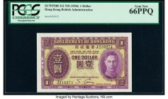 Hong Kong Government of Hong Kong 1 Dollar ND (1936) Pick 312 KNB2a PCGS Gem New 66 PPQ.   HID09801242017  © 2020 Heritage Auctions | All Rights Reser...