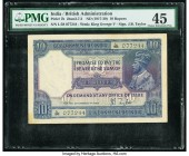 India Government of India 10 Rupees ND (1917-30) Pick 7b Jhun3.7.2 PMG Choice Extremely Fine 45. Spindle holes  HID09801242017  © 2020 Heritage Auctio...