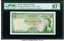 Jersey States of Jersey 1 Pound ND (1963) Pick 8b PMG Superb Gem Unc 67 EPQ.   HID09801242017  © 2020 Heritage Auctions | All Rights Reserved