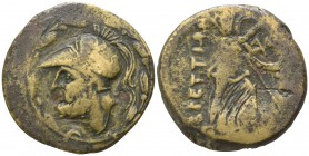 Bruttium. The Brettii circa 215-205 BC. Reduced Sextans AE