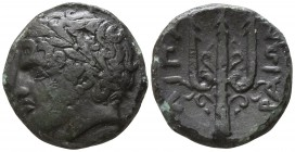 Islands off Sicily. Lipara circa 320-280 BC. Bronze Æ